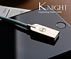 Mcdodo Lightning Işıklı Siyah USB Data Kablosu 1,20m - Resim 4
