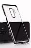 MeePhone Samsung Galaxy S9 Gold Kenarlı Şeffaf Rubber Kılıf - Resim 2
