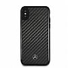Mercedes-Benz iPhone X Karbon Siyah Silikon Kılıf - Resim 2