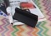Mercury Sony Xperia Z Yan Kapaklı Siyah Cüzdan Kılıf - Resim 4