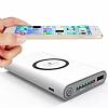 Mili-Pro Kablosuz Hızlı Şarj Özellikli 10000 mAh Powerbank Siyah Yedek Batarya - Resim 2