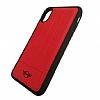 Mini iPhone X Silikon Kenarlı Kırmızı Kılıf - Resim 1