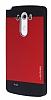 Motomo LG G3 Metal K�rm�z� Rubber K�l�f