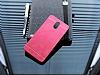 Motomo Prizma Lenovo Vibe P1m Metal Kırmızı Rubber Kılıf - Resim 1