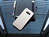 Motomo Prizma Samsung Galaxy S8 Plus Metal Gold Rubber Kılıf - Resim 2