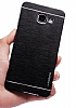 Motomo Samsung Galaxy A5 2017 Metal Siyah Rubber Kılıf - Resim 2