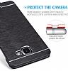 Motomo Samsung Galaxy J7 Prime Metal Pembe Rubber Kılıf - Resim 3