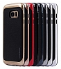 Motomo Samsung Galaxy S6 Edge Siyah Kenarlı Siyah Silikon Kılıf - Resim 2