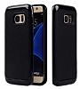 Motomo Samsung Galaxy S6 Edge Siyah Kenarlı Siyah Silikon Kılıf - Resim 1