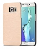 Motomo Samsung Galaxy S6 Edge Plus Metal Gold Rubber K�l�f - Resim: 2