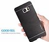 Motomo Samsung Galaxy S8 Metal Silver Rubber Kılıf - Resim 1
