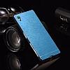 Motomo Sony Xperia Z3 Metal Mavi Rubber Kılıf - Resim 2
