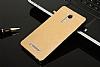 Motomo Xiaomi Redmi Note 3 Metal Gold Rubber Kılıf - Resim 1