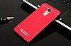 Motomo Xiaomi Redmi Note 3 Metal Kırmızı Rubber Kılıf - Resim 1