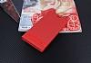 Motorola Moto E4 Plus Gizli Mıknatıslı Standlı Kırmızı Deri Kılıf - Resim 2