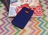 Motorola Moto E4 Plus Mat Dark Blue Silikon Kılıf - Resim 2