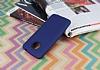 Motorola Moto E4 Plus Mat Dark Blue Silikon Kılıf - Resim 1