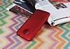 Motorola Moto E4 Plus Mat Kırmızı Silikon Kılıf - Resim 1