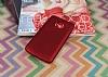 Motorola Moto E4 Plus Mat Kırmızı Silikon Kılıf - Resim 2