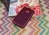 Motorola Moto E4 Plus Mat Mürdüm Silikon Kılıf - Resim 2