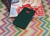 Motorola Moto E4 Plus Mat Koyu Yeşil Silikon Kılıf - Resim 2