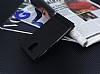 Motorola Moto G4 Plus Gizli Mıknatıslı Yan Kapaklı Siyah Deri Kılıf - Resim 2