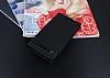 Motorola Moto G4 Plus Gizli Mıknatıslı Yan Kapaklı Siyah Deri Kılıf - Resim 1