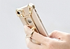 Nillkin iPhone 7 / 8 Selfie Yüzüklü Metal Bumper Gold Kılıf - Resim 10