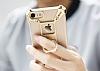 Nillkin iPhone 7 / 8 Selfie Yüzüklü Metal Bumper Gold Kılıf - Resim 7