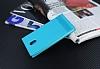 Nokia 3 Gizli Mıknatıslı Yan Kapaklı Mavi Deri Kılıf - Resim 2