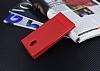 Nokia 3 Gizli Mıknatıslı Yan Kapaklı Kırmızı Deri Kılıf - Resim 1