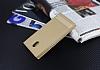 Nokia 3 Gizli Mıknatıslı Yan Kapaklı Gold Deri Kılıf - Resim 2