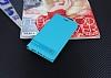 Nokia 3 Gizli Mıknatıslı Yan Kapaklı Mavi Deri Kılıf - Resim 1