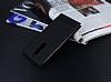 Nokia 6 Gizli Mıknatıslı Yan Kapaklı Siyah Deri Kılıf - Resim 2