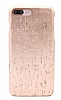 NY Cork iPhone 7 Plus / 8 Plus Rose Gold Gerçek Mantar Kaplama Premium Kılıf - Resim 1