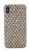 NY Cork iPhone X Altın Yaldızlı Gerçek Mantar Kaplama Premium Kılıf - Resim 1
