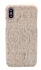 NY Cork iPhone X Gül Desenli Gerçek Mantar Kaplama Premium Kılıf - Resim 1