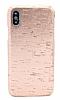 NY Cork iPhone X Rose Gold Gerçek Mantar Kaplama Premium Kılıf - Resim 1