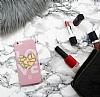 iPhone 6 / 6S Pink Mirror Taşlı Kılıf - Resim 2