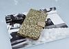 PinShang Samsung Galaxy C5 Taşlı Kapaklı Cüzdan Gold Kılıf - Resim 1
