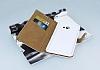 PinShang Samsung Galaxy C9 Pro Taşlı Kapaklı Cüzdan Beyaz Kılıf - Resim 1
