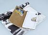 PinShang Sony Xperia XA Taşlı Kapaklı Cüzdan Beyaz Kılıf - Resim 2