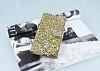 PinShang Sony Xperia XA Taşlı Kapaklı Cüzdan Gold Kılıf - Resim 2