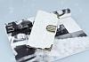 PinShang Sony Xperia XA Taşlı Kapaklı Cüzdan Beyaz Kılıf - Resim 3