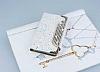 PinShang Sony Xperia Z3 Compact Taşlı Kapaklı Cüzdan Beyaz Kılıf - Resim 2