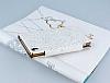 PinShang Sony Xperia Z3 Plus Taşlı Kapaklı Cüzdan Beyaz Kılıf - Resim 3