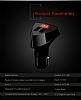 Remax Dijital Göstergeli Yüksek Kapasiteli Siyah Araç Şarj Aleti - Resim 7