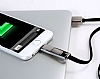 Remax Lightning & Micro USB Siyah Data Kablosu 1m - Resim 5