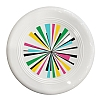 Renkli Pervane Desenli Beyaz Frizbi