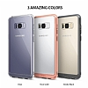 Ringke Fusion Samsung Galaxy S8 Ultra Koruma Şeffaf Siyah Kılıf - Resim 1
